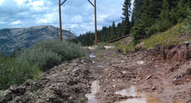 Remote Rocky Mountain site inspection
